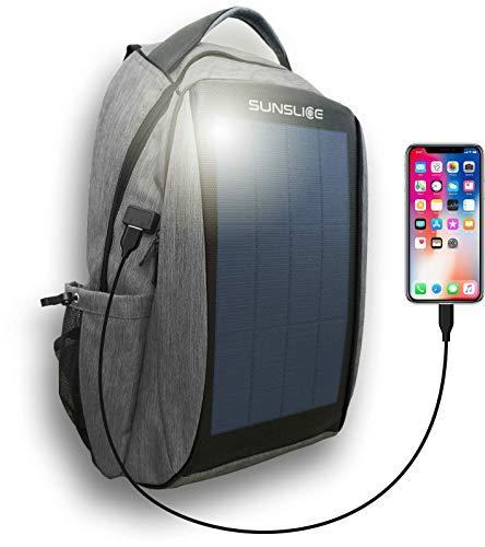 Mochila Impermeable con Panel Solar, Bolsa portátil con Paneles solares Flexibles y potentes para...