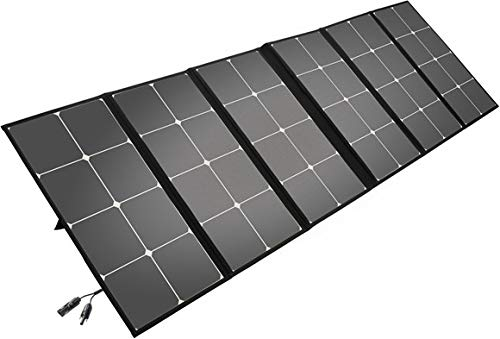 Litionite Arun 160W Panel solar plegable y portátil con soporte inclinado - Ampliable para sistemas...