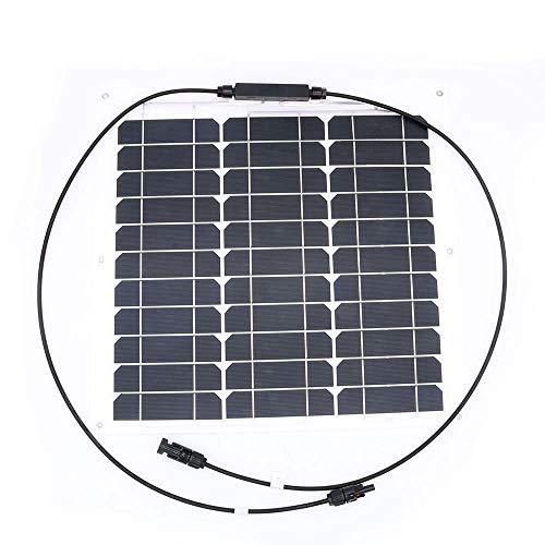 nuzamas 30W 12V Panel Solar de batería SunPower celda Ultra Thin Flexible con conector carga para...