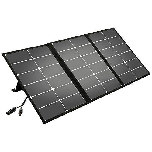 Litionite Arun 60W Panel solar portátil y plegable con soporte inclinado - Conexión DC - Cargador...