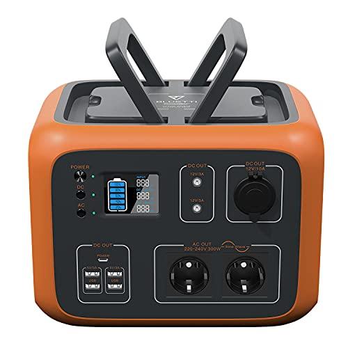 PowerOak Bluetti AC50S 500Wh Generador Solar Portátil con Inversor de 300W y Salidas AC/DC/USB,...