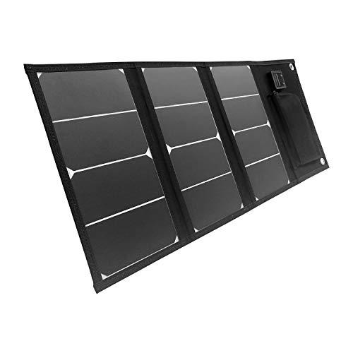 Litionite Arun 20W Panel Solar Plegable y portátil con 2 Puertos USB - Cargador para...