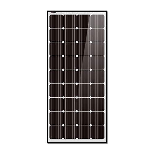 Litionite Rayo 180W Panel solar monocristalino en vidrio templado con estructura de aluminio negro...