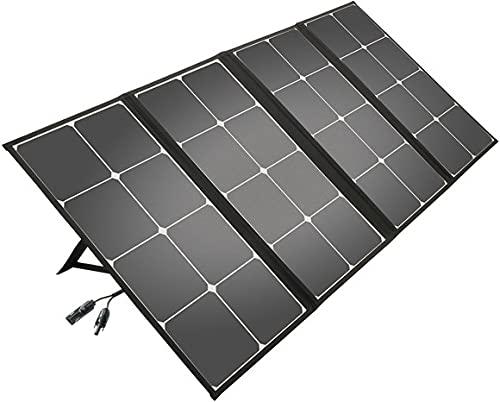 Litionite Arun 110W Panel solar plegable y portátil con soporte inclinado - Conexión DC -...