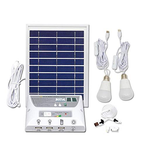 Damai Kit De Iluminación De Energía Solar con 2 Bombillas USB para Uso En Interiores Y Al Aire...