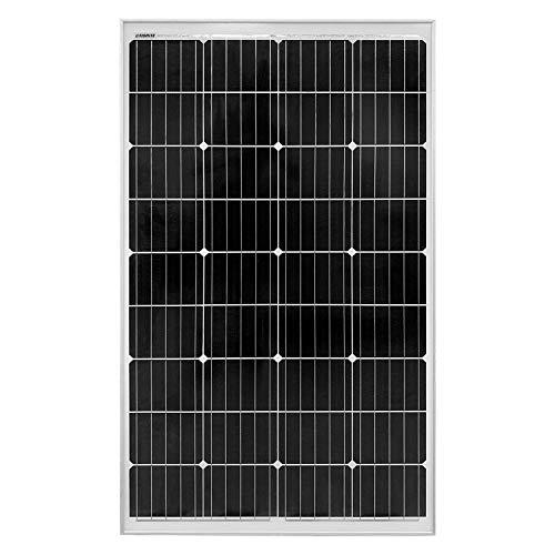 Litionite Rayo 130W Panel solar monocristalino en vidrio templado con estructura de aluminio negro...