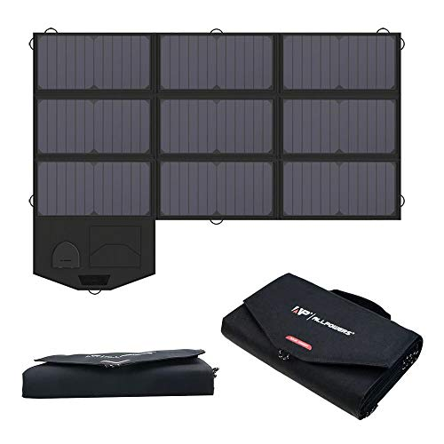 ALLPOWERS Panel solar plegable de 60 W con salida de 18 V CC para generador portátil, computadoras...