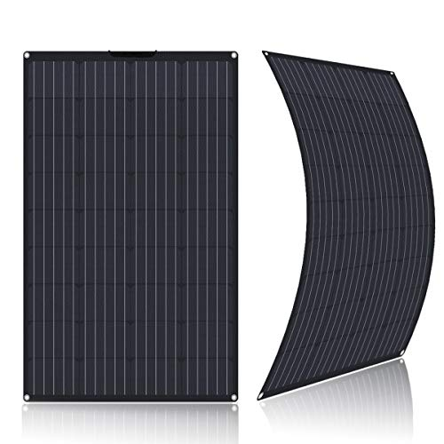 SARONIC Panel Solar ETFE Flex Monocristalino Semiflexible de 100W para RV, Barco, Tienda, Coche,...