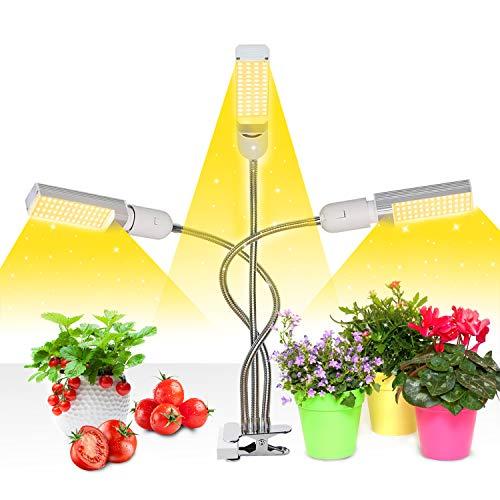 Mejora la luz de crecimiento con temporizador de encendido/apagado automático 3/6/12 h, 156 LED...