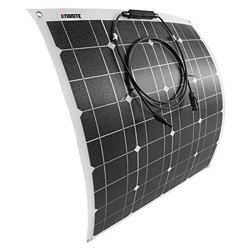 Litionite Carve 50W Panel solar flexible ultra delgado con tecnología ETFE para instalación...