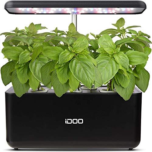 iDoo Sistema de Cultivo hidropónico, Jardinera de Interior de Hierbas con luz de Crecimiento LED,...