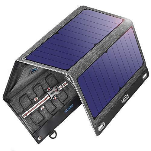 VITCOCO Cargador Solar Portátil, 29W Portatil Cargador Solar Panel Placa Plegable Impermeable Power...
