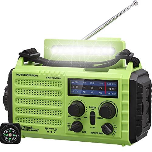 Radio de Emergencia, Radio de Manivela, Radio Solar, Radio Meteorológica para Senderismo y...