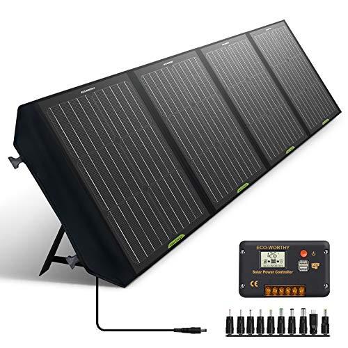 ECO-WORTHY Panel Solar Plegable de 120W para Estación de Energía Portátil y batería de RV,...