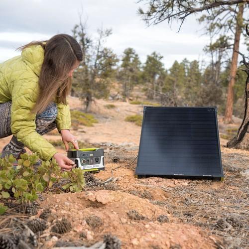 generador portátil y panel solar